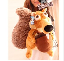 lovely squirrel plush doll simulation squirrel toy dolls birthday gift about 45cm
