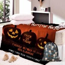 Custom DIY Print Fleece blanket 3D Beauty Fashionable 150x200cm Throw Blanket gift Dropshipping Halloween