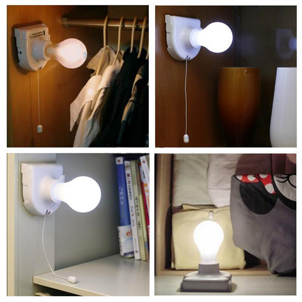 1pc White Stick Up Lights Cordless Wireless Battery Operated Night Light Portable Bulb Licht Cabinet Closet Lamp In Led From Lighting