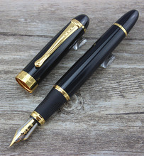 Hot Selling New Fountain Pen Jinhao X450 Black Medium Nib Gold Trim 55038 black business medium nib fountain pen gold hook trim new