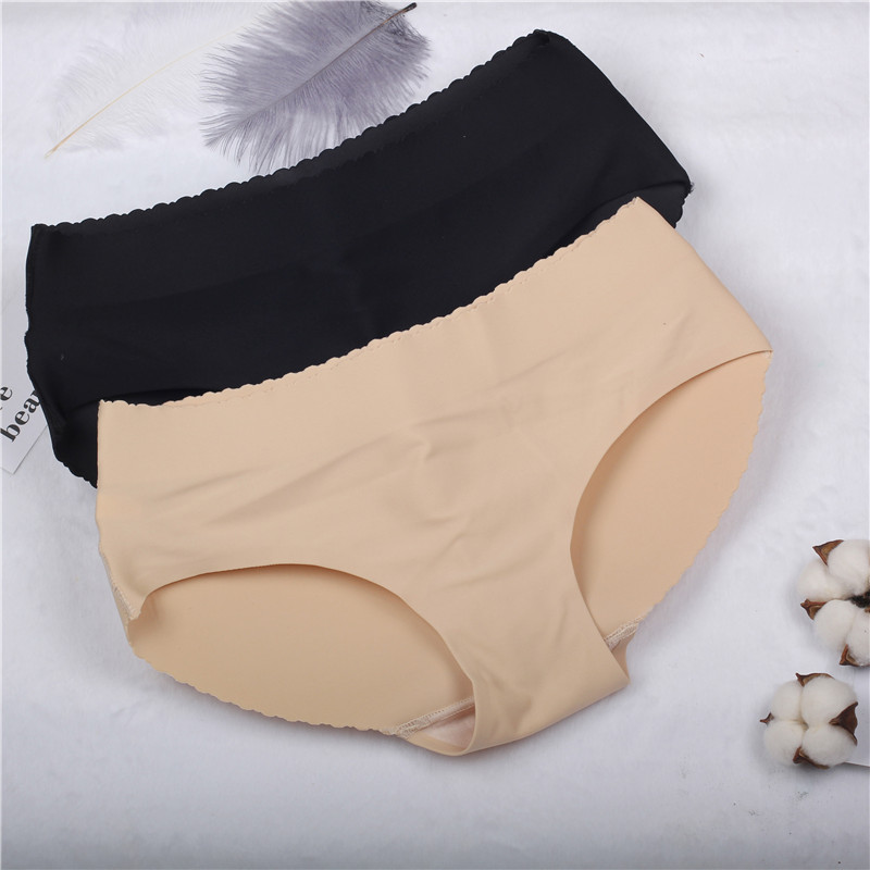 lady low Waist Sexy Seamless Padding   Panties   Bum Padded Butt lifter Enhancer Hip Push Up Underwear   Panties   Buttocks S-XL