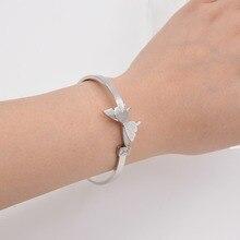 Cute Style Bracelets dull polish Jewelrys Butterfly Sand Bracelets 316L Stainless Steel Bangles Jewelry Women Festival Gift 18