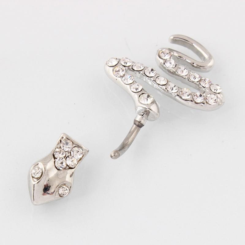 HTB12NAfMXXXXXclXFXXq6xXFXXXz Sterling Silver Belly Button Crystal Encrusted Serpent Ring For Women
