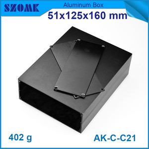Image 2 - 1 piece aluminum instrument case for electronic project box in black with brushed 51*125*160mm