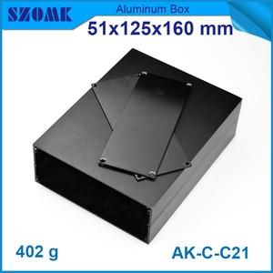 "Image 2 - 1 piece מקרה מכשיר אלומיניום תיבת פרויקט אלקטרוני בשחור עם מוברש 51*125*160 מ""מ"