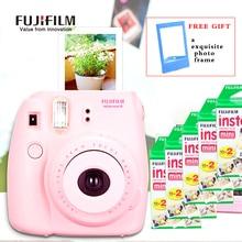 Fujifilm Instax Mini 8 Cámara Fuji Cámara Instantánea Photo Film + 100 UNIDS hojas films 3 pulgadas de Papel Fotográfico Fuji Instax Mini Blanco