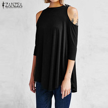 Solid Blouses Irregular Long