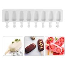 SILIKOLOVE 8 полости мороженое плесень эскимо силиконовые формы DIY домашний фруктовый сок десерт льда поп лоток для мороженого на палочке плесень