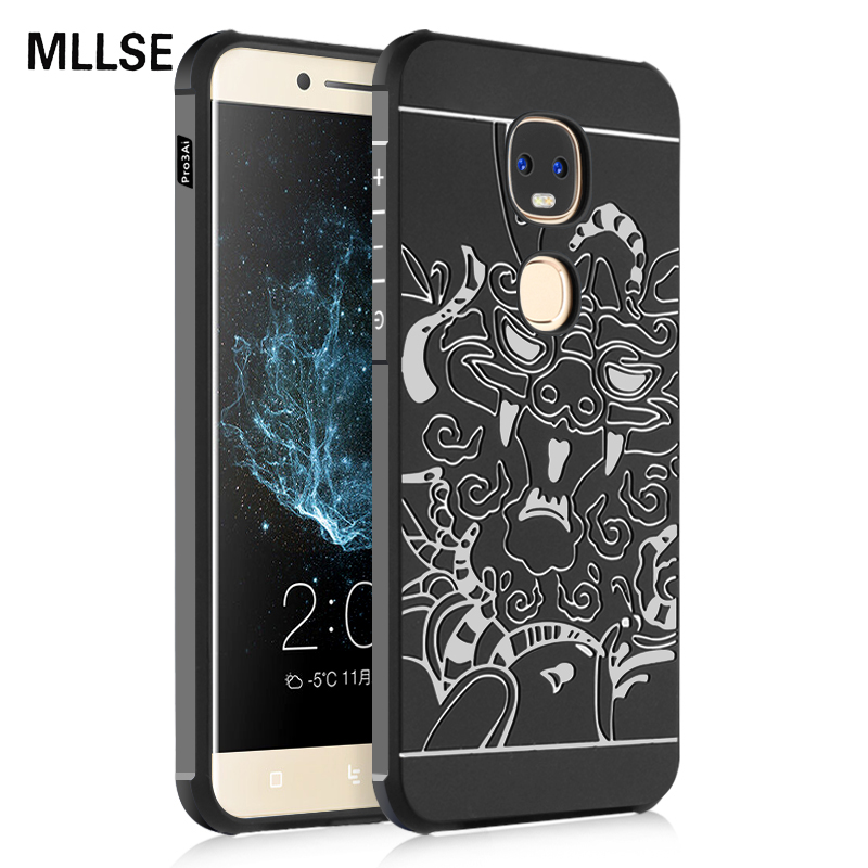 MLLSE Slim Armor Anti Hit Shock Proof Silicone Case For Letv Le Pro 3 Dual AI X650 3D Curved Dragon Drop Resistance Rubber Cover ...
