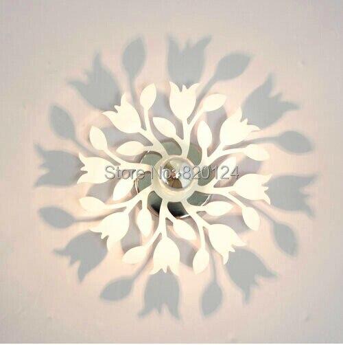 ФОТО Novelty Flower Carnation 5D Shadow Wall Lights , 3D Shadow Projection Shape Wall Decoration Lamp White 20cm diameter