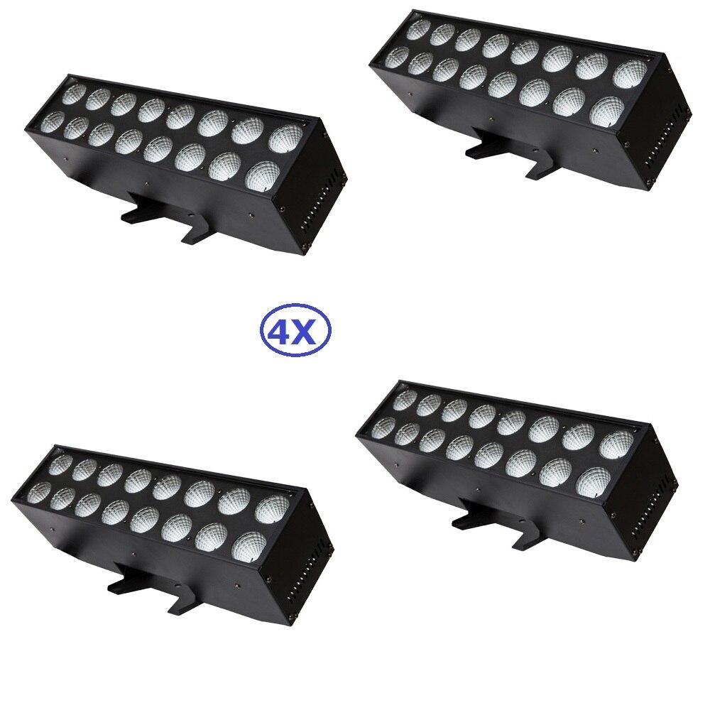 4 шт./лот заводская цена профессиональной сцене Strobe Light 16x25 Вт RGB 3IN1 светодиодный прожекторы с высоким мощность светодиодный S Бесплатная дост...