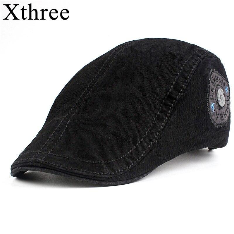 Xthree uomini di Modo strillone Berretto di Cotone casquette Cappelli per  Gli Uomini Visiere Sunhat Gorras d40d9bf5677b
