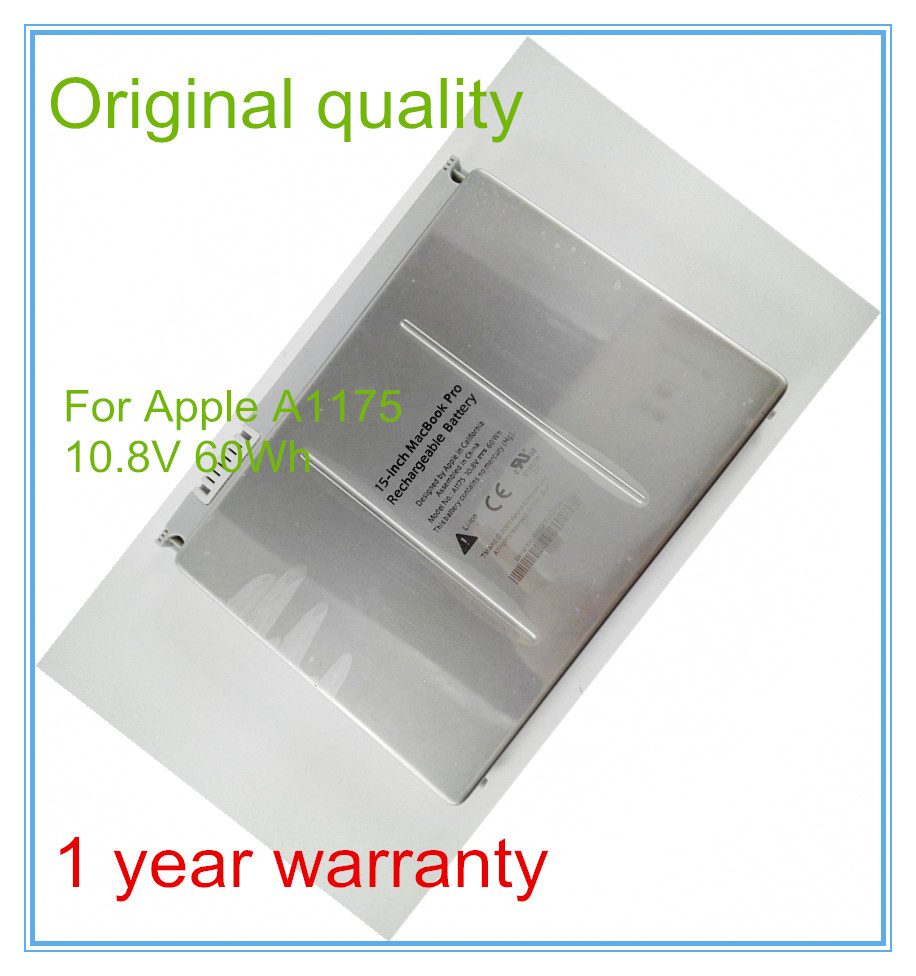 Original Laptop Battery A1175 for  Pro 15 A1150 A1260 MA463 MA348 MA464 MA600 MA601 MA610 10.8V 60WH original quality new laptop battery a1175 for apple macbook pro 15 a1150 a1260 ma463 ma348 ma464 ma600 ma601 ma610 10 8v 60wh
