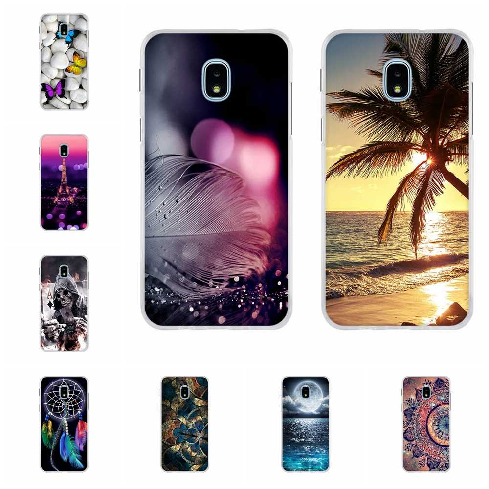 Voor Samsung Galaxy J3 2018 Case Soft Silicone Voor Samsung Galaxy J3 Ster Cover Leuke Kat Patroon Voor Samsung Amp prime 3 Coque