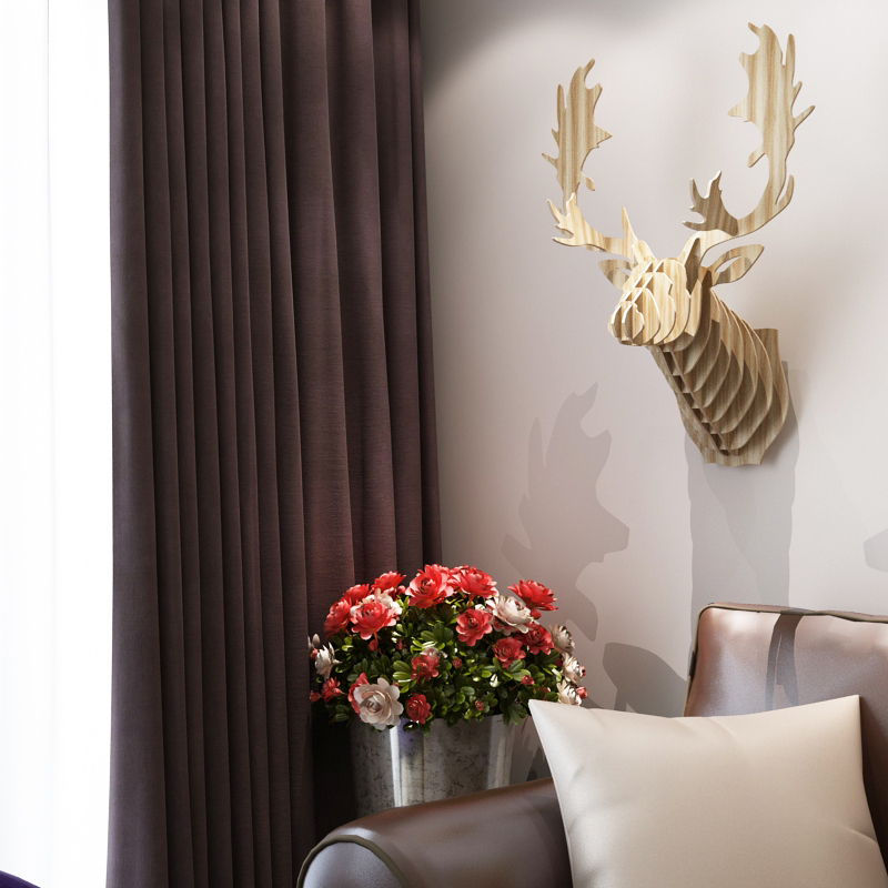 Canada Quebec Milu Reindeer Head 48D DIY Wooden Wall Home Decor Delectable Canadian Home Decor Stores Decoration