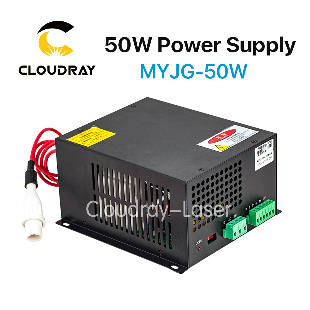 Cloudray 50W CO2 Laser Power Supply for CO2 Laser Engraving Cutting Machine MYJG-50W silver jewelry gems drill bits diamond coated hole saw tools 0 7mm set of 100