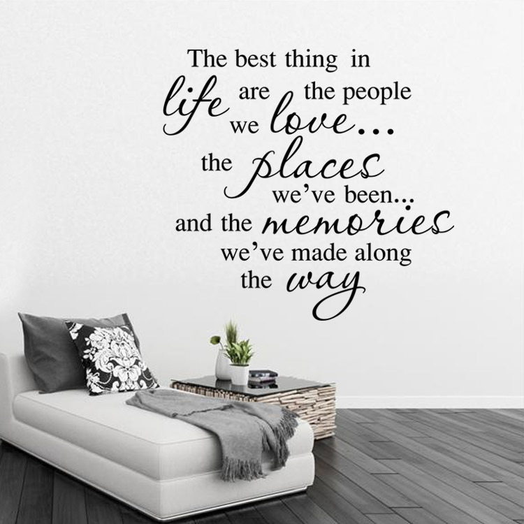 DIY Best Thing In Life Are The People We Love Quote Home