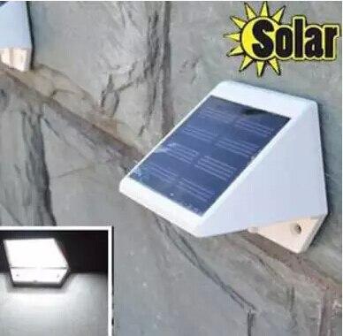 La energ a solar 4 led barda escalera jard n pared camino - Luz solar jardin ...