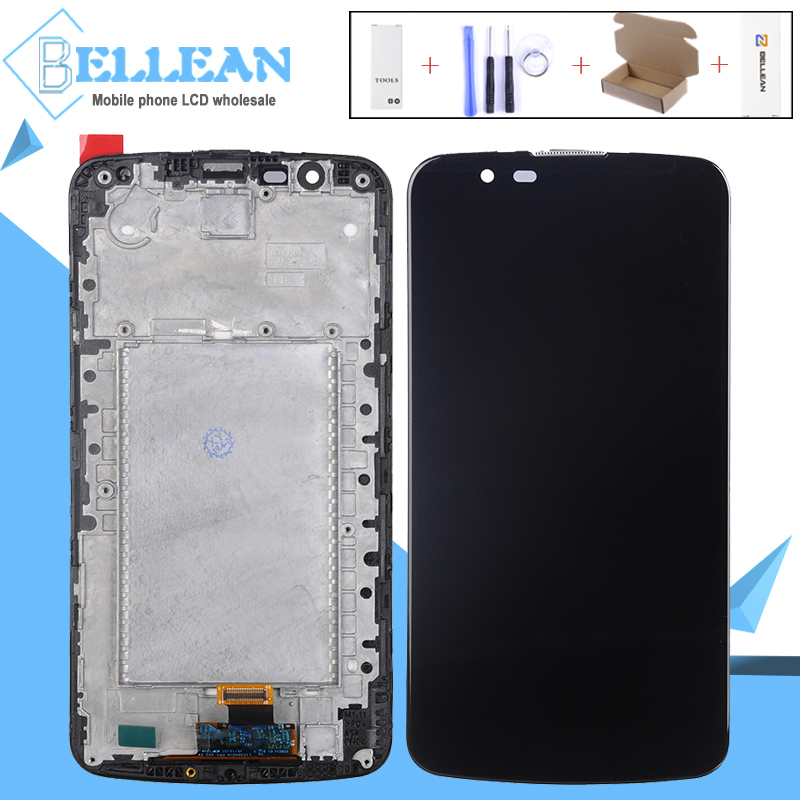 Catteny Para LG Tela de TV Para LG K10 K10 K430 K430DS K420N 420N LCD Touch Screen Digitador Assembléia Com quadro Com IC