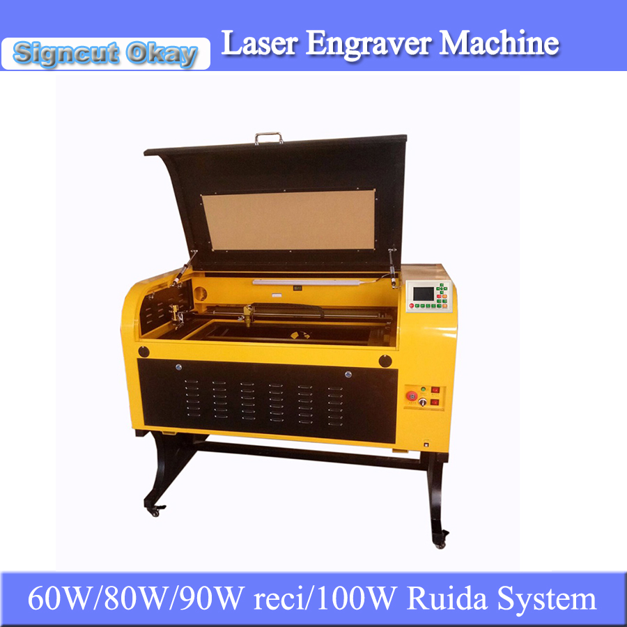 Factory Price 60W/80W/90Wreci /100W CO2 Laser Engraving Cutting Machine TS6090 600*900mm Motorized Up And Down Working Table