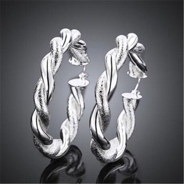 Us 3 99 Fashion 925 Sterling Zilveren Vrouwen Kleine Touw Oorringen Vrouwen Vrouwelijke Oor Sieraden Bruiloft Cadeau Niet Allergisch In Fashion 925
