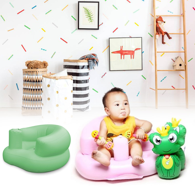 Learn Bath Chair Baby Seat Place Bath Sofa Baby Inflatable Chair Inflatable Sofa 2 Color Pvc Kids & Baby Sofas Dining Chair