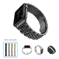 URVOI Band For Apple Watch Strap Wrist Stainless Steel Link Bracelet New Color Blue Design With