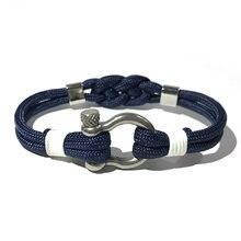 Новый модный очаровательный Паракорд браслет для мужчин с двойной