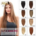 Clip in Human Hair Extensions Straight Brazilian Virgin Human Hair Extensions Remy Hair Clips Ins 7/8pcs/set for Whole Head
