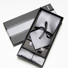 Fashion Wide Tie Sets Men's Neck Tie Hankerchiefs Cufflinks 10 colours Box gift polyester handmade