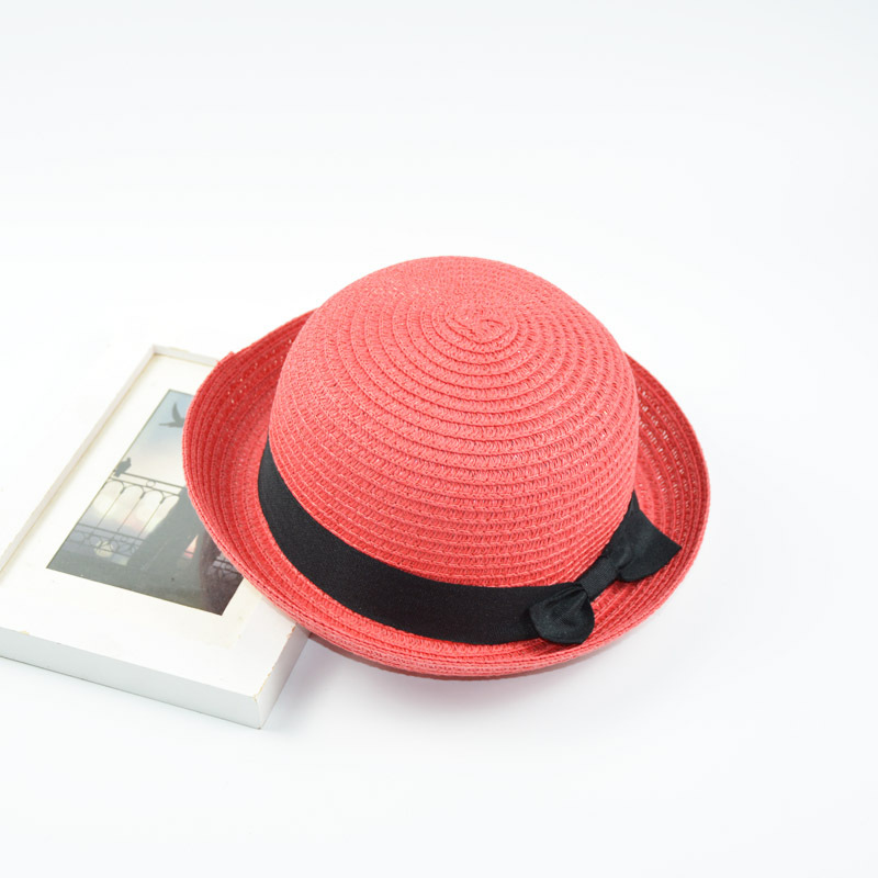 b6f61191e81 Parenting models small round hat ladies summer Korean version of the dome  hat cute curling small hat beach visor tide-in Hats   Caps from Mother    Kids on ...
