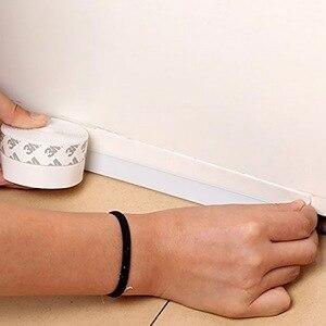Image 2 - Силиконовая самоклеящаяся уплотнительная лента для зачистки под дверцей, уплотнительная лента для окон, изолятор для защиты от зачистки дверей