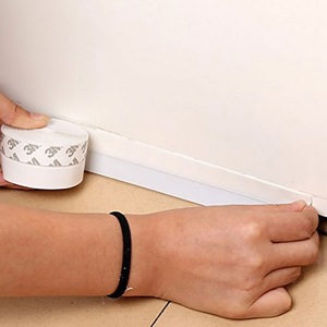 Image 2 - Silicone Self Adhesive Weather Stripping Under Door Draft Stopper Window Seal Strip Noise Stopper Insulator Door Sweep Prevent