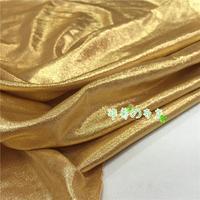 Light golden silk spandex stretch fabric costume bronzing Decor Tights Leggings fabric