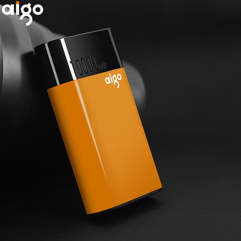 Aigo 10000 mah Puissance QC 2.0 rapide banque d'alimentation de chargeur 10000 Mah bateria externe Powerbank pour iPhone xiaomi chargeur portable