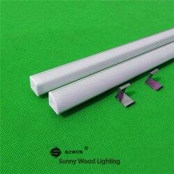 10-40 unids/lote 80 pulgadas 2m 45 grados perfil angular de aluminio para tira de led 5050, cubierta lechosa/transparente para pcb de 12mm, barra de luz led