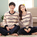 New winter flannel Couple sets pajamas thickening sleepwear sweet Men & Lady printing Indoor Casual Clothing Home Suit