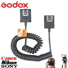 Godox 3M Off Camera Flash Speedlite TTL Cable Shoe Sync Cord for Canon Nikon Sony DSLR Cameras