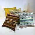 África onda tarja geometria bohemian cotton linen capa de almofada lance decorativa almofadas sofá fronhas boêmio Bege Produto