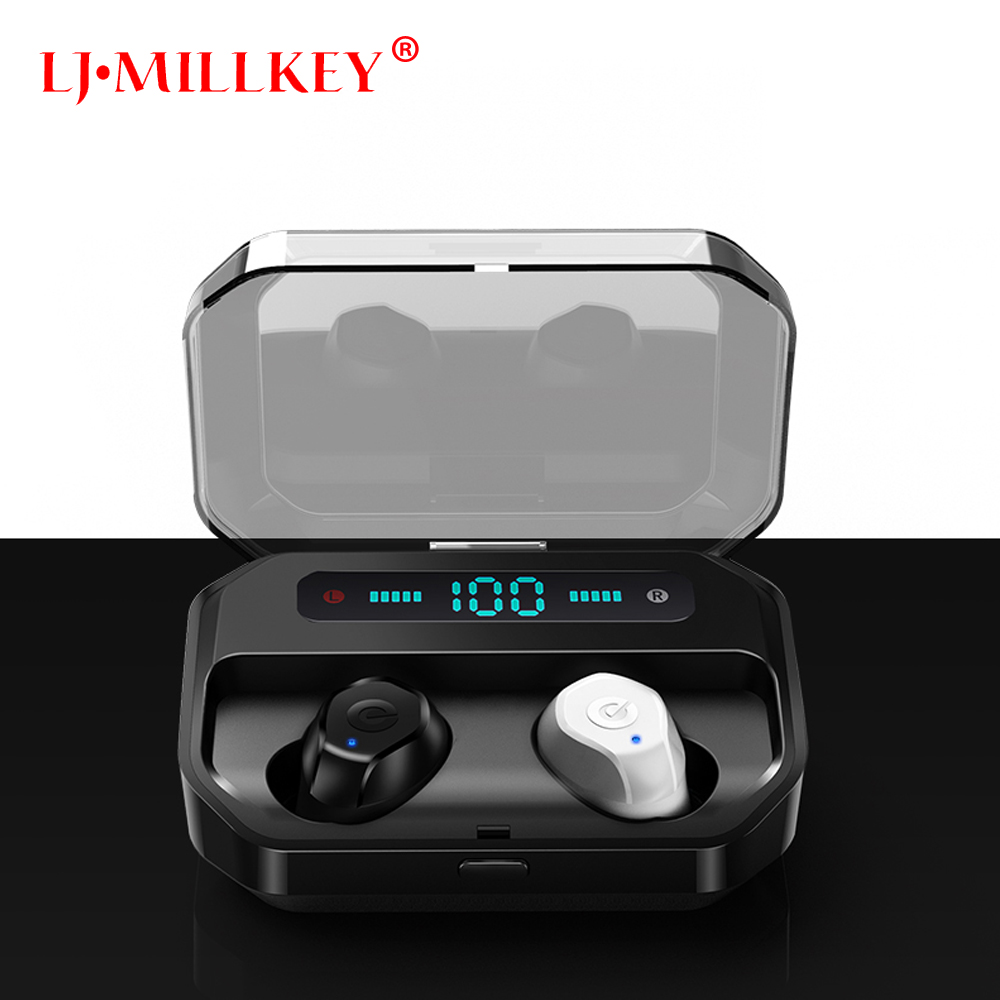 Earphones Wireless Headphones TWS 5.0 headsets Handsfree Earbuds Mini Stereo With Mic Charging Box Sports Headphone YZ253