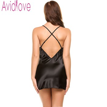 Sexy Nightgown Lingerie Fashion Nightdress Women 5