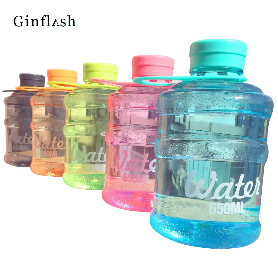 New Mini Barreled Sealing Bottles With Creative Students Water Bottle 650ml For Traveling Biking Sports