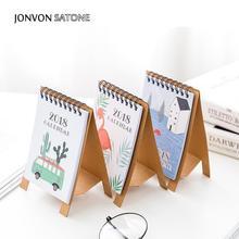 Jonvon Satone 2019 Desktop Calendar Notebooks For School Diary Notebook Stationery Lovely Creative Cartoon Calendar Planners Kid