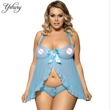 Sexy Costumes Box Open Skirt Plus Size Sleepwear Lingerie Sexy Erotic Lingerie Babydolls Erotic Dress M/XL/3XL/5XL For Women