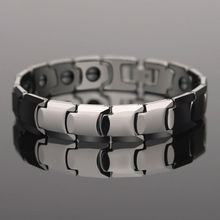 Saya Brand 85.7% Tungsten Carbide Man's Bracelets High Polished with Black Magnetic Stone Adjustable Length Free Shipping