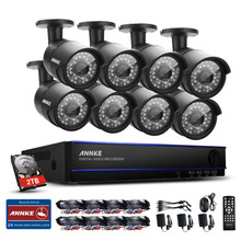ANNKE 8CH HD 2.0MP HDMI DVR 2TB HDD 1080P In/Outdoor Home Security Camera System