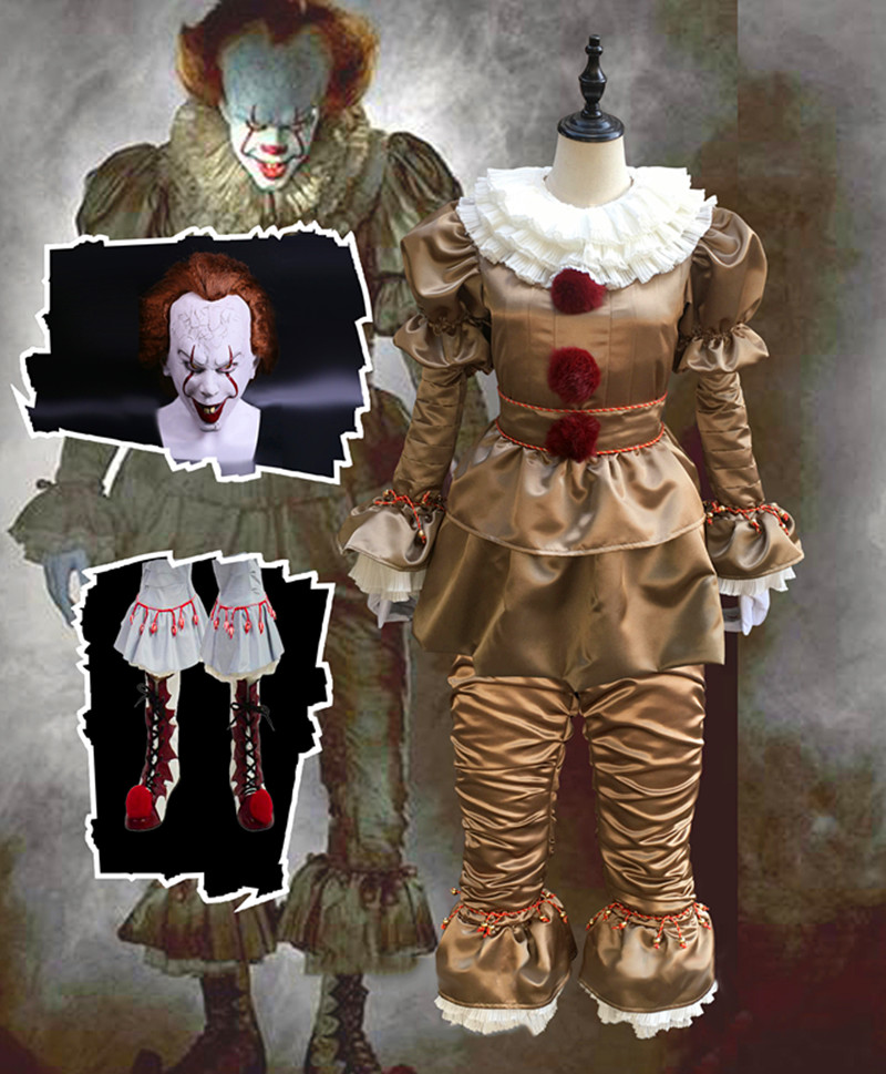 Hot Movie Stephen King' Pennywise Cosplay Costume
