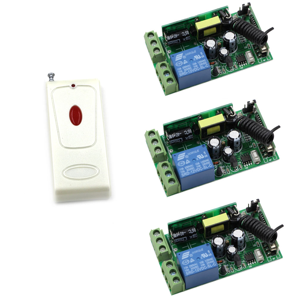AC 85-250V Wireless Remote Control Switch Radio Light Switch 1CH Relay Wireless Remote ON OFF Receiver Transmitter 315/433Mhz 220v 1ch radio wireless remote control switch 8 receiver