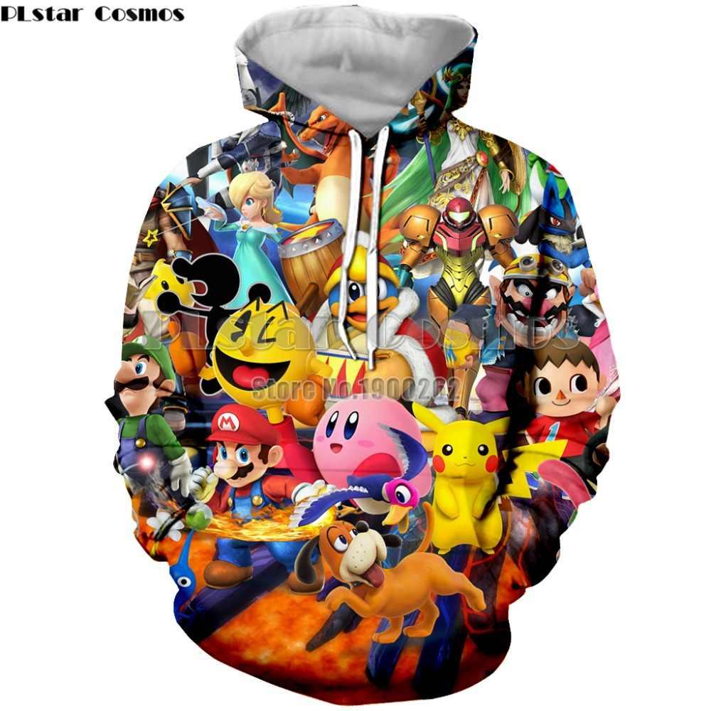74193833715c PLstar Cosmos Super Mario Cartoon Game Men Hoodies Sweatshirt Men s women Long  Sleeve 3d Print