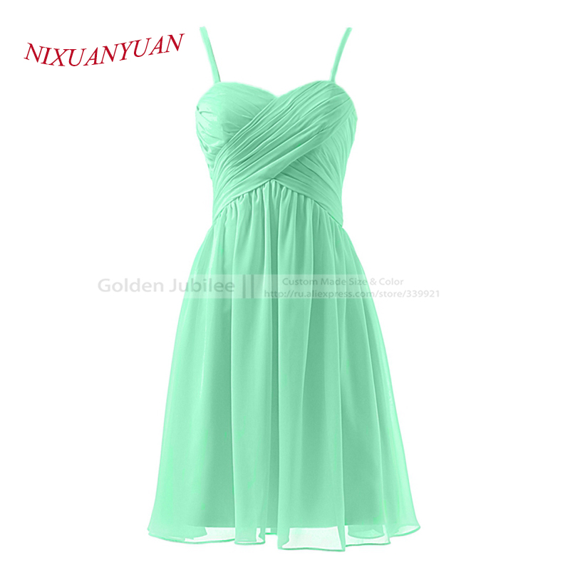 2016 Hot Sale A Line Party Gown Sweetheart With Spaghetti Straps Chiffon   Cocktail     Dress   2016 Short vestidos de   cocktail